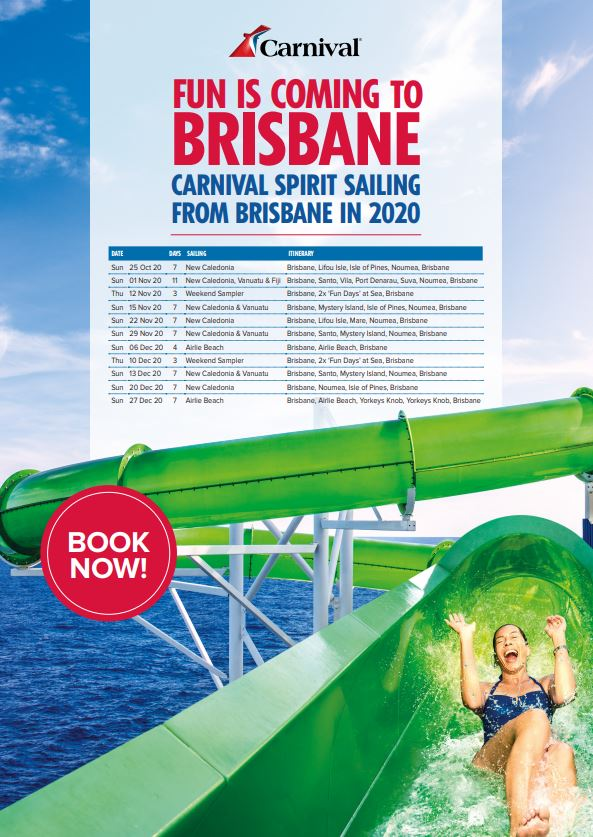 download Carnival Spirit brochure: sailing from Brisbane in 2020