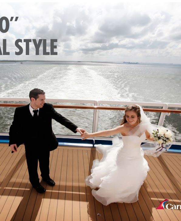 download Carnival Cruises brochure: Wedding Guide