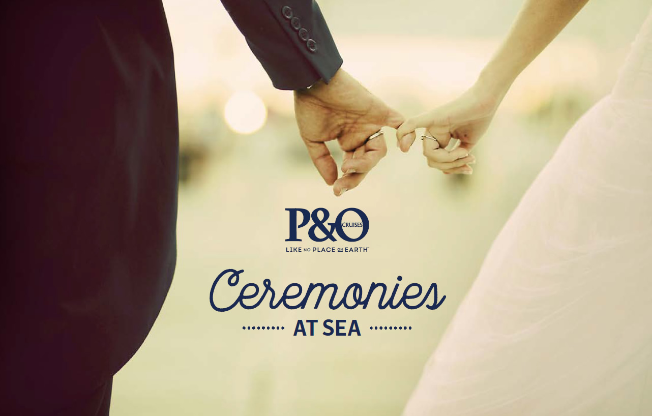 P&O Australia Ceremonies At Sea brochure