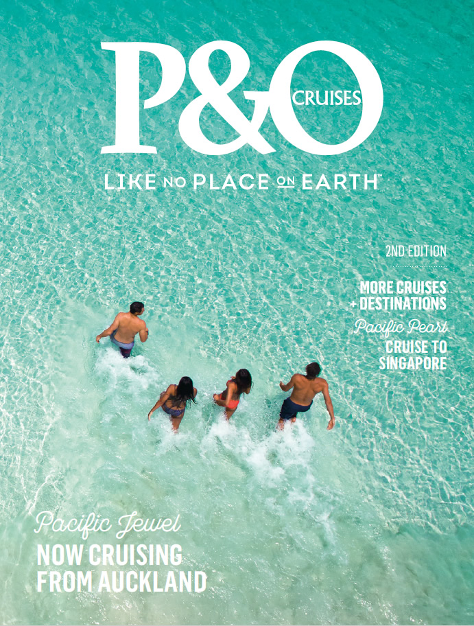 P&O New Zealand cruise brochure