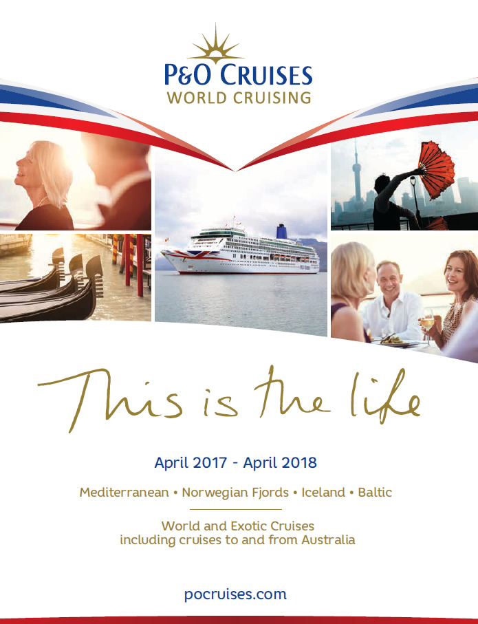 P&O UK cruise brochure