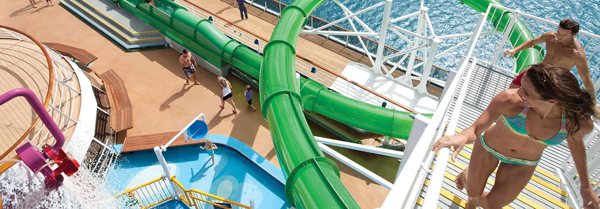 Carnival Spirit - Green Thunder Waterslide