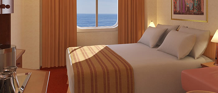 Ocean View cabin on the Carnival Legend