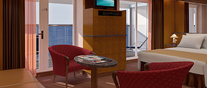 Suite (grand) cabin on the Carnival Spirit