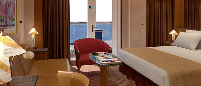 Suite (ocean) cabin on the Carnival Spirit